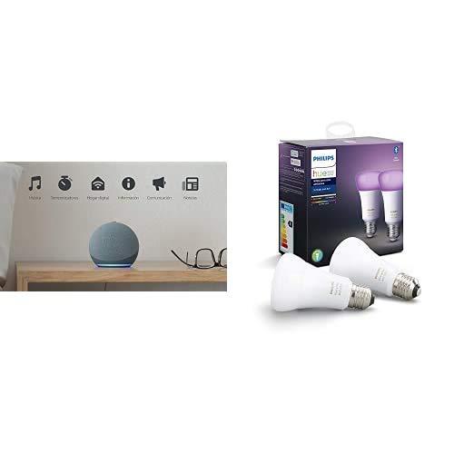 Brownie - Blue + Philips 2x BLE Color Bulb - E27