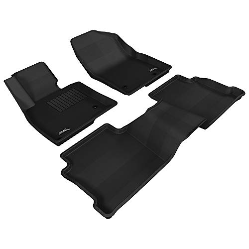 Kagu Rubber 3D MAXpider Complete Set Custom Fit All-Weather Floor Mat for Select Ford F-150 SuperCrew Models L1FR08301509 Black