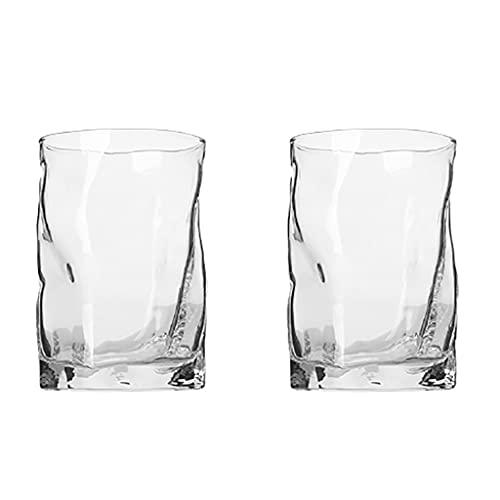 Taza de Cristal Creativa,Fondo Liso y Grueso de La Taza Estable y Robusto,Utilizado para Vaso de Whisky,Vaso de Vino Extranjero,Vaso de Cerveza, Vaso de Jugo (Color : Colorless)