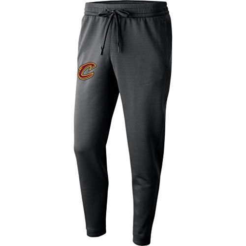 Herren-Jogginghose NBA Cleveland Cavaliers Leichtathletik Trainingshose Beiläufige Bequeme Lose Team-Logo Knöchel Gebunden Hosen Für Die Jugend Grey-M