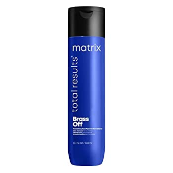 MATRIX Total Results Brass Off Color Depositing Blue Shampoo for Neutralizing Brassy Tones 10.1 Ounce