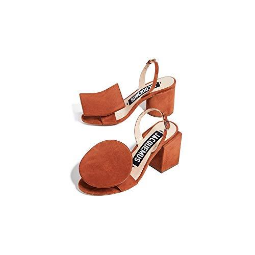 Jacquemus 'Les Rond Carré' Terracotta Sandals Brown