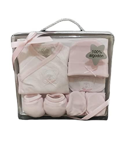 Set de recién nacido 5 piezas (Rosa Osito)