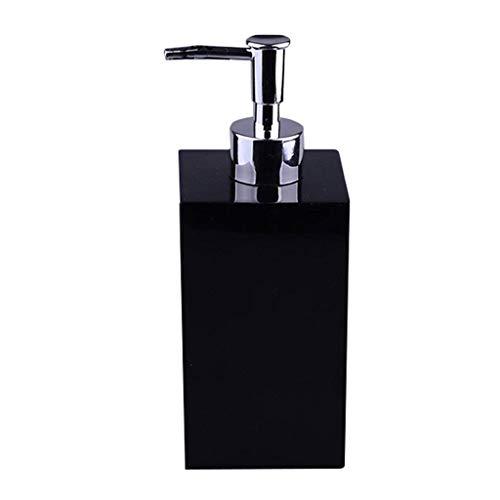 Dispensadores de loción y jabón Hotel Clubhouse Ducha Gel Desinfectante de manos Emulsión de resina en botella Dispensador de jabón Sub-botella de baño Estante del distribuidor ( Color : Black )