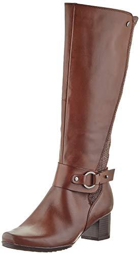Caprice Damen 9-9-25528-25 Kniehohe Stiefel XL Schaft, Cognac Comb, 38.5 EU