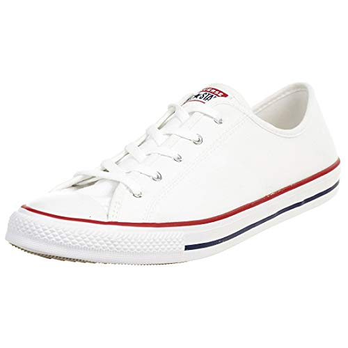 Converse Unisex-Child Chuck Taylor All Star Sneaker, White, 42 EU