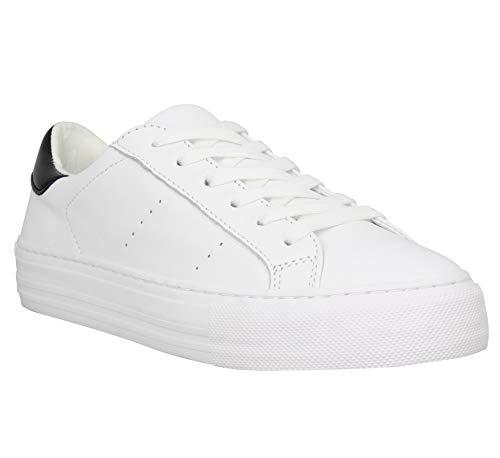 Unbekannt No Name Arcade Sneaker Nappa, Damen, Weiß, Weiß - weiß - Größe: 38 EU