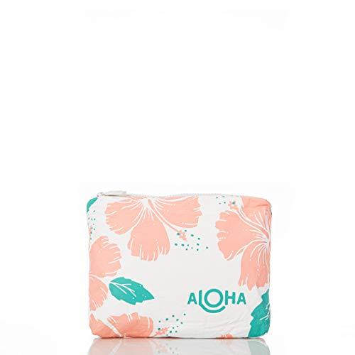 Bolsa de viagem à prova de respingos da coleção ALOHA, Small Hibiscus Pouch in Guava, Small Pouches