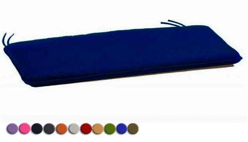 Cojin Rectangular A Medida para Banco y Banquete con 2 Cordones Antideslizante (Pack de 2 Unidades) - Made In Italy + Hechos a ManoMedidas 40X60X3 Cm: Color Gris