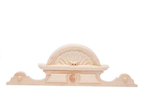 Schrankkrone aus Holz Schrankaufsatz Verzierung 28cm x 80cm Bekrönung antik Stil