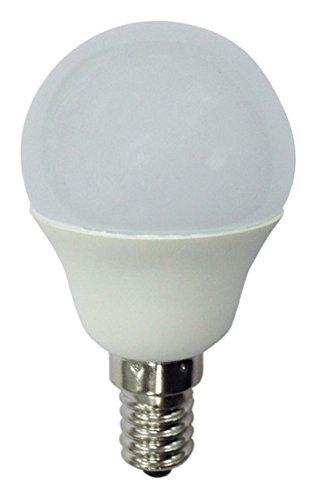 A2BC - Bombilla LED esférica 6W (equivalente a 40W) Luz fría (6000K) no dimmable, E14, 470 Lm, 25000 horas de vida [Clase de eficiencia energética A+]