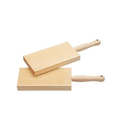 Home Made Set di 2 Taglieri per Il Burro e per Fare Gli Gnocchi, Legno, Beige, 20 cm x 6.5 cm x 1.5 cm, 2 unità