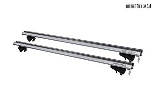 Menabo - Baca de aluminio para coche, para BMW X1 F48 (modelos desde 2015)