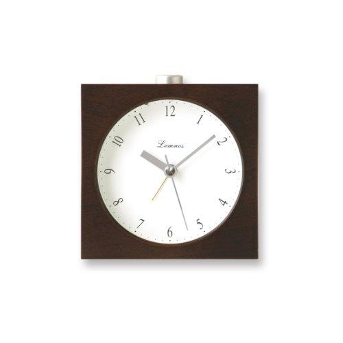 Lemnos PA09-10 Nocturne Alarm Clock, japanischer Design-Wecker mit Licht und leisem Uhrwerk, braun