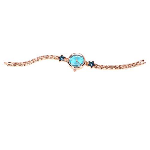 ABOOFAN Reloj de Aleación de Mujer Reloj de Pulsera con Diamantes de Imitación Reloj de Cuarzo Elegante Regalo de Cumpleaños para Mujeres (Azul)