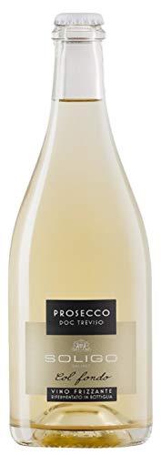 SOLIGO Vino Prosecco Col Fondo Doc Treviso Bott 75 cl - Imballo da 6 Bottiglie da 75 cl