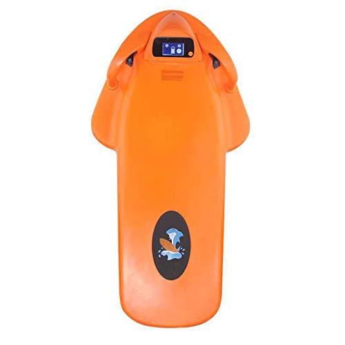A&DW Unterwasser-Scooter, Sea Scooter, Elektro-Schwimmen Kickboard, Paddle Board, Elektrische Schwimmbrett, Energie Surfbrett, Ausbildung Wasserpark Schwimmen,Orange