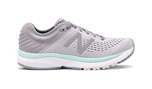 New Balance Women's 860 v10 Running Shoes, Medium Width, Steel/Light Aluminum/Light Reef, Size 7.5