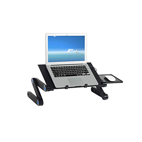 SogesPower Adjustable Laptop Stand, Foldable Computer Desk, Portable Laptop Table Stand, Light Weight Notebook desk, Stand Up/Sitting desk, SP-JHYL-803