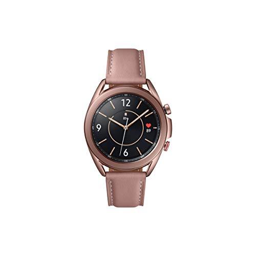 Samsung Galaxy Watch3, runde Bluetooth Smartwatch für Android, drehbare Lünette, LTE, Fitnessuhr, Fitness-Tracker, großes Display, 41 mm, bronze, inkl. 36 Monate Herstellergarantie [Exkl. bei Amazon]