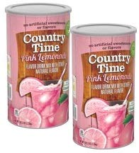 Country Time Pink Lemonade Drink Mix, 5lb. 2.5oz. (2.33 kg) 82.5 - ounce units (Pack of 2)
