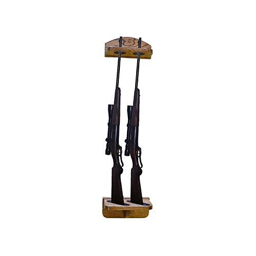 Great Features Of Weaver Wood Designs 2-Gun Solid Oak Gun Rack Wall Display for Shotguns and Rifles