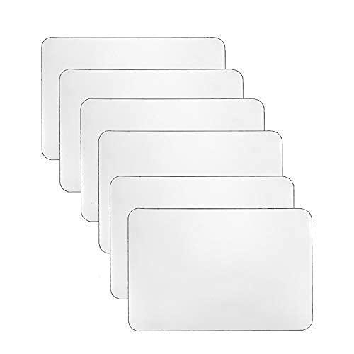 YoleShy 6 manteles individuales de plástico, resistentes al calor, lavables para comedor, cocina (17' x 11')