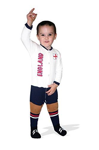 Supportershop–Inglaterra Pijama Mixta bebé, Angleterre, Blanco, Small