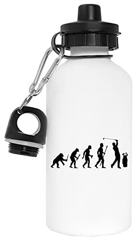 Gracioso Evolución De Golf Botella de Agua Blanco Aluminio Reutilizable Water Bottle White Aluminium Reusable