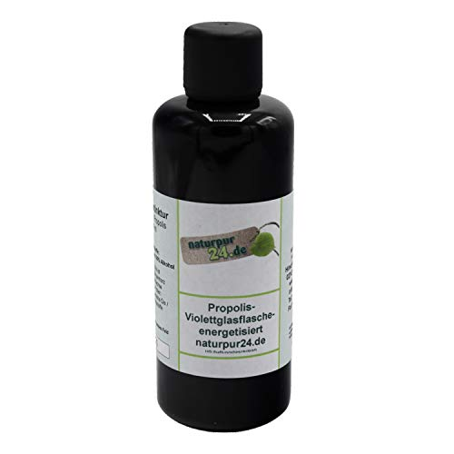 Hochwertiges 50%`ges Propolis wasserfrei Propolistropfen Popolistinktur 100ml Bienenkittharz 50% Violettglas energetisiert in Bioqualität