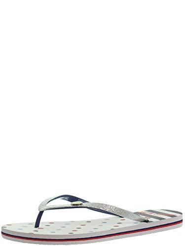Pepe Jeans London Damen RAKE KEMY Zehentrenner, Silber (Silver 934), 38 EU