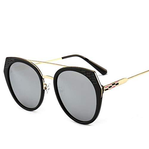 Zomer zonnebril voor dames Heren Cat Eye Gepolariseerd Pilot Spiegel Frame Metaal Optisch Cool Vintage Brillen Bril Zilver