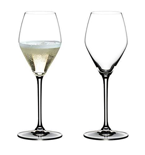 Dekomiro Riedel - Juego de Copas de champán (2 Unidades), diseño de corazón