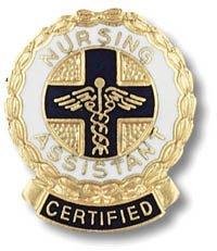 EMI Certified Nursing Assistant (CNA) Emblem Round Emblem Pin - Wreath Edge