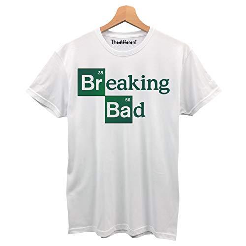 T-Shirt Maglietta Uomo Logo Breaking Bad Serie TV Idea Regalo