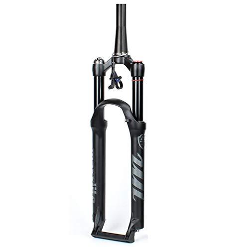 AIFCX Amortiguador 26/27,5/29in Horquillas de suspensión Freno Disco Horquilla Delantera Bicicleta de montaña 120mm Horquilla de suspensión de Bicicleta MTB de Viaje,Cone Tube Wire control-29IN