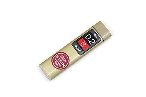 Pentel Ain Stein Mechanical Pencil Lead, 0.2mm B, 10 Leads (C272-B)