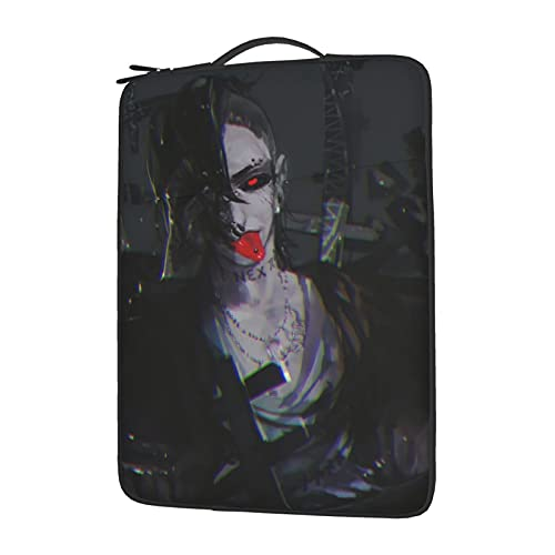 Tokyo Ghoul Horror Uta Laptop Sleeve Notebook Case Holder Soft Protective Handle Carrying for Business Office Travel Compatible with Toshiba Acer Macbook Air 14 inch