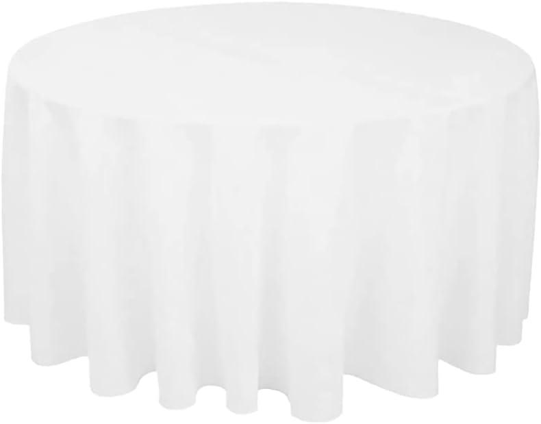 IMIKEYA White Tablecloth ラッピング無料 Polyester 新作からSALEアイテム等お得な商品 満載 Table Roun Clothes Decorative