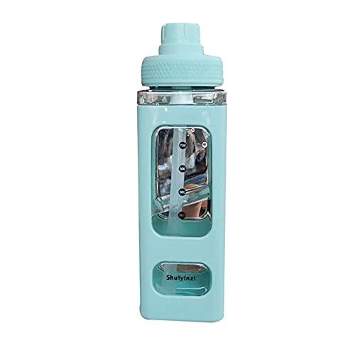 Richoyster Bottiglia d'Acqua con Cannuccia Sport Bottiglia di plastica Rettangolare Portatile per l'arrampicata succhi di tè Tazze d'Acqua