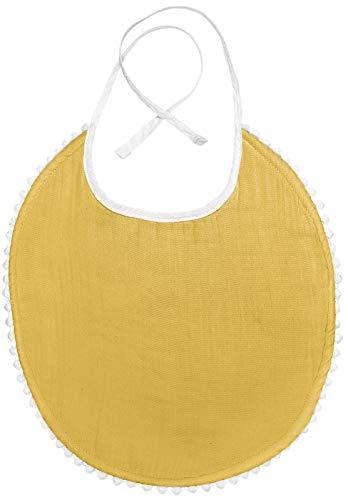 Kindsgut Musselin Lätzchen London, Baumwolle, senf