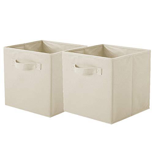 Powerking Cesta Plegable de Almacenamiento de Ropa Cubos, contenedores y cajones (Blanco, 2)