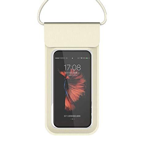 Strandtasche Anpassung wasserdichte Tasche Handy Outdoor Universal Tauch Set Touchscreen Staubschutz Fünf Farben 9,5 * 13,5 cm XMJ (Color : Gold)