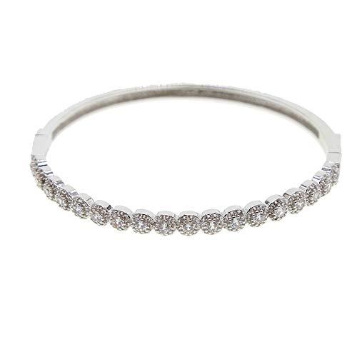 N/A Hjpam Christmas Bangle Fashion Jewelry Copper Women Rose Gold Color Bracelets Bangles Nails Cuff Bracelet Jewelry 58Mm|Chain,Link Bracelets