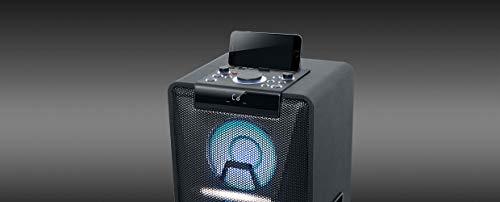 Muse M-1950 DJ PA-Anlage 500 Watt, mit CD, Bluetooth und Licht-Effekten (USB, AUX, Mikrofon, Fernbedienung), schwarz - 2
