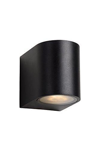 Lucide ZORA-LED - Wandstrahler Außen - LED Dim. - GU10 - 1x5W 3000K - IP44 - Schwarz