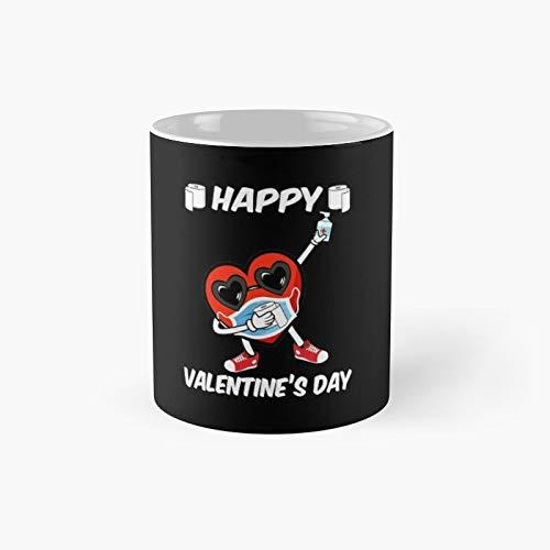 Dabbing Heart In A Mask Funny Valentines Day Boys Kids Dab Classic Mug - 11 Oz.