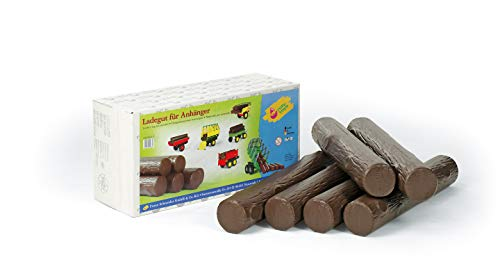 Rolly Toys rollyTimber (6 Stück, Kunststoff-Stämme, für Traktoranhänger geeignet, Länge ca. 58 cm) 409631