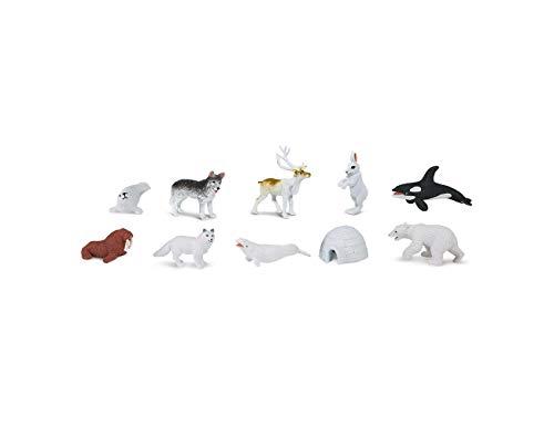 Miniblings Figuras Animales 8X Alaska Conjunto Igloo Polar Bear Mimosa del Polo Ártico