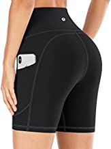 IUGA Workout Shorts for Women with Pockets High Waisted Biker Shorts for Women Yoga Shorts Running Shorts Black